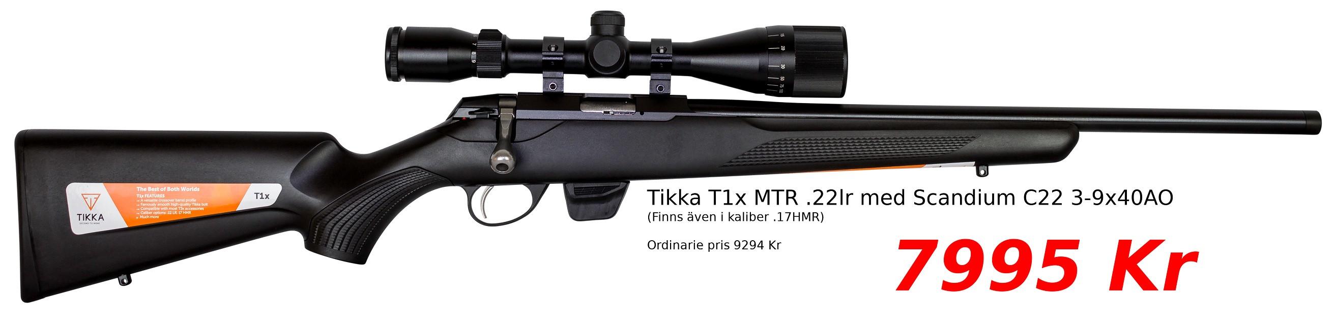 Tikka T1x Vapenpaket 7995 Kr